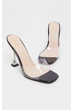 PRETTYLITTLETHING Clear Heel Clear Mule Sandal