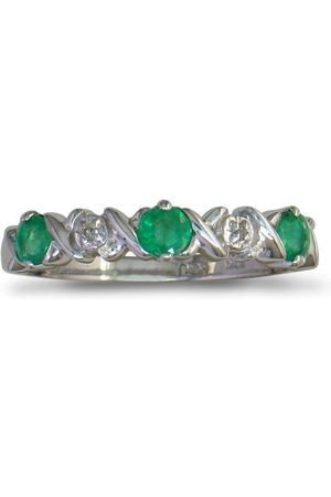 SuperJeweler Emerald & Diamond Band in (1.8 g)