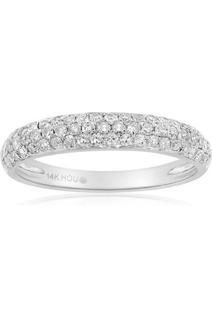 SuperJeweler 1/2 Carat Micro Pave Diamond Wedding Band in 14K