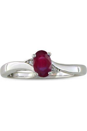 SuperJeweler Women Rings - 1/2 Carat Ruby & Diamond Ring in Sterling Silver