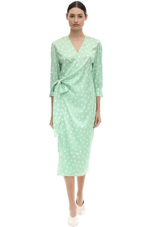 Aéryne Cowry Printed Satin Wrap Dress