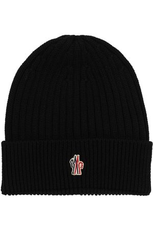 Moncler Logo Virgin Wool Beanie