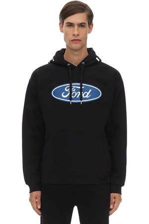 VERSACE Ford & Logo Cotton Hoodie