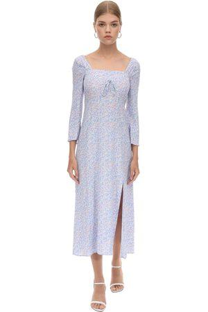 RIXO London Viscose Crepe Midi Dress