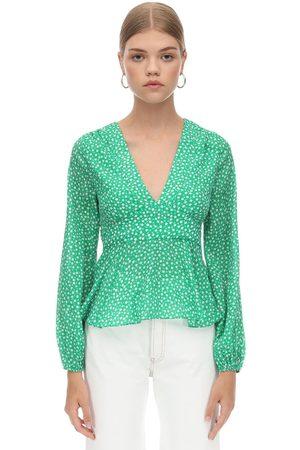 RIXO London Printed Silk & Viscose Shirt