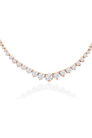 SuperJeweler Graduated 10 Carat Diamond Tennis Necklace in 14K (19 g)