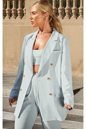 PRETTYLITTLETHING Women Blazers - Petite Dark Mint Tailored Blazer