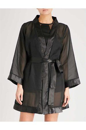 BlueBella Satin-trim chiffon kimono
