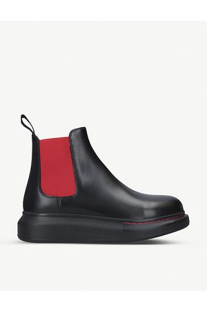 Alexander McQueen Chelsea hybrid leather boots