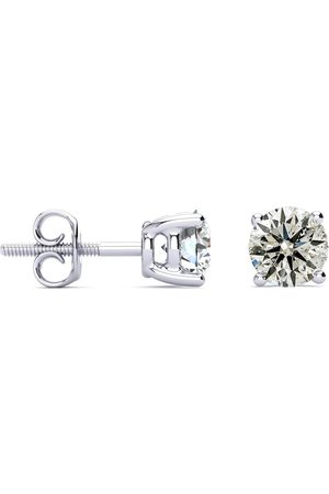 SuperJeweler Long Post Colorless Diamonds 1.25 Carat Diamond Stud Earrings in 14k (1.8 Grams)