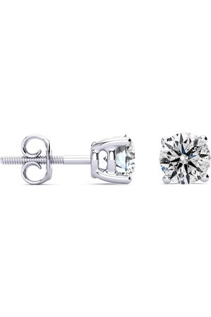 SuperJeweler Long Post Colorless Diamonds 1.5 Carat Diamond Stud Earrings in 14k (1.4 g)