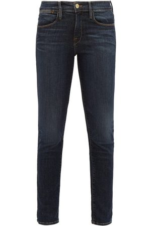 Frame Le High High-rise Skinny-leg Jeans - Womens - Dark Denim