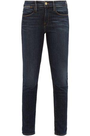 Frame Women High Waisted - Le High High-rise Skinny-leg Jeans - Womens - Dark Denim