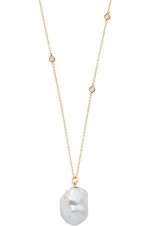 Bibi van der Velden Women Necklaces - Diamond, Baroque Pearl & 18kt Gold Necklace - Womens - Pearl