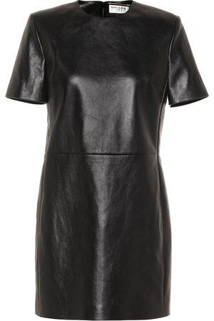 Saint Laurent Leather minidress