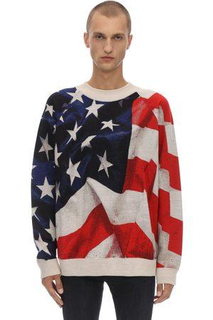 Ih Nom Uh Nit Oversize American Flag Knit Sweater