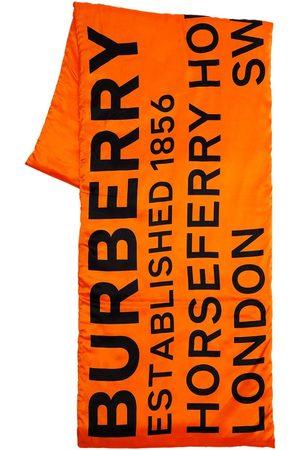 Burberry Logo Printed Silk Puffer Scarf