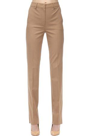 Sportmax Straight Leg Virgin Wool Blend Pants