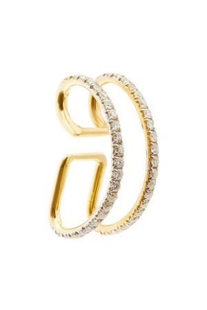 Ana Khouri Jamie 18kt Gold & Diamond Pavé Ear Cuff - Womens - Diamond