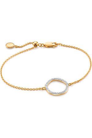 Monica Vinader Women Bracelets - Gold Riva Circle Diamond Bracelet Diamond