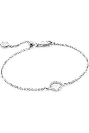 Monica Vinader Sterling Silver Riva Mini Kite Bracelet Diamond