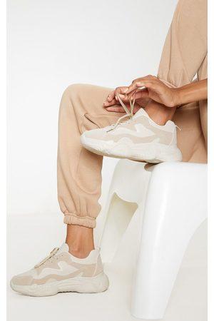 PRETTYLITTLETHING Women Sneakers - Sand Bubble Sole Lace Up Sneaker