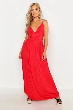 Boohoo Womens Plus Strappy Knot Front Maxi Dress - - 14