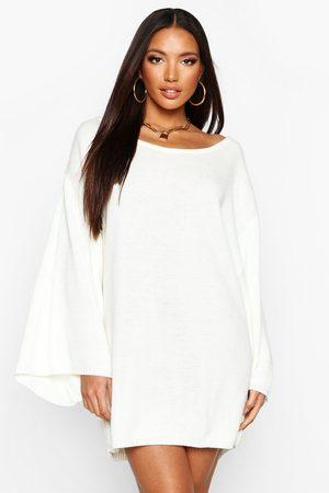 Boohoo Womens Oversized Wide Sleeve Sweater Dress - - L