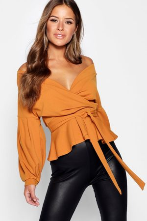 Boohoo Womens Petite Off The Shoulder Blouse - - 2