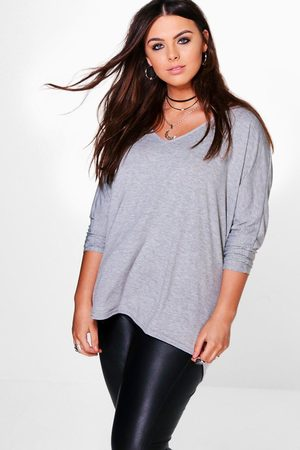 Boohoo Womens Plus Long Sleeve Basic T-Shirt - - 12