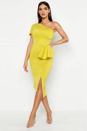 Boohoo Womens One Shoulder Split Midi Dress - - 2