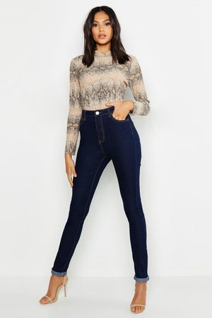 "Boohoo ""Womens Tall High Waist Skinny Jean 35"""" Leg - - 2"""