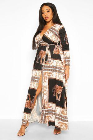Boohoo Womens Plus Chain Print Maxi Dress - - 12
