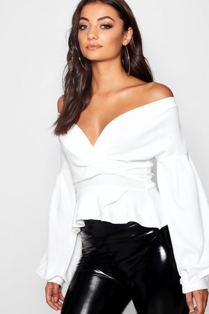 Boohoo Womens Tall Off The Shoulder Blouse - - 4