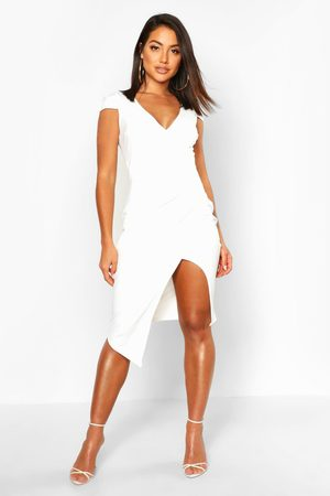Boohoo Womens Cap Sleeve Wrap Midi Dress - - 2
