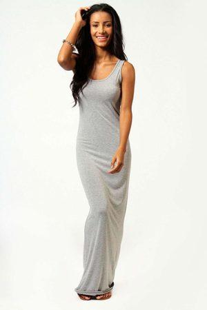 Boohoo Womens Petite Sandy Scoop Neck Maxi Dress - - 2