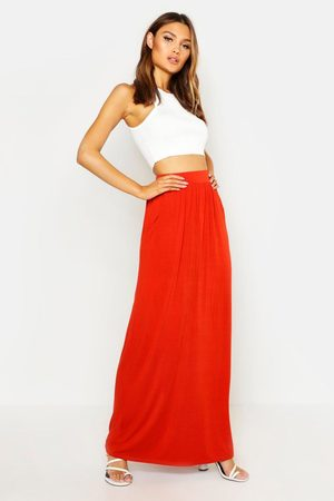 Boohoo Womens Basic Pocket Front Jersey Maxi Skirt - - 6