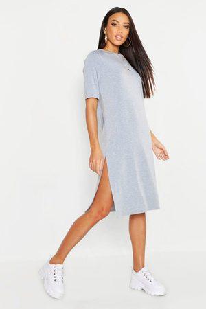 Boohoo Womens Split Midi T-Shirt Dress - - 6