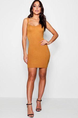 Boohoo Womens Basic Strappy Cami Bodycon Dress - - 4