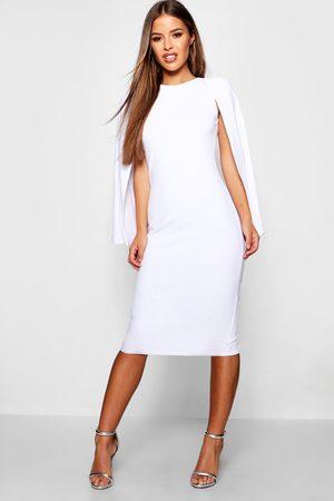 Boohoo Womens Petite Cape Sleeve Midi Dress - - 2