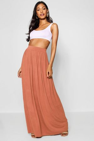 Boohoo Womens Basic Floor Sweeping Jersey Maxi Skirt - - 10
