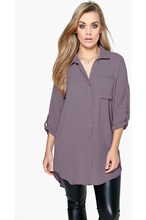 Boohoo Womens Plus Oversized Shirt - - 12