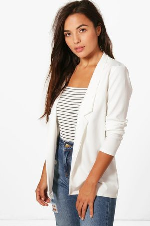 Boohoo Womens Petite Notch Detail Oversized Boyfriend Blazer - - 2