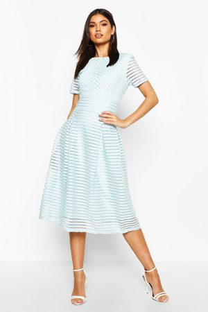Boohoo Womens Boutique Full Skirted Prom Midi Dress - - 2