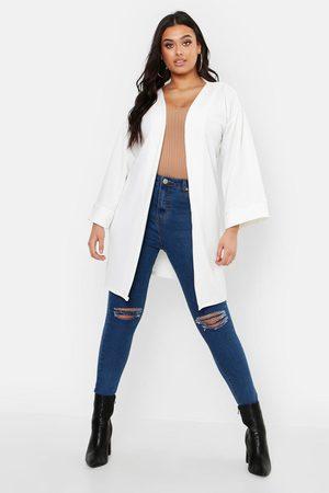Boohoo Womens Plus Kimono Sleeve Duster - - 12
