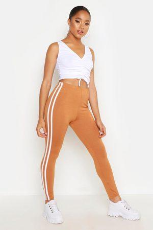 Boohoo Womens Sports Stripe Leggings - - 2