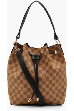 Boohoo Womens Flannel Duffle Day Bag - - One Size