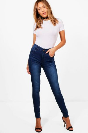 Boohoo Women High Waisted - Womens High Rise 5 Pocket Skinny Jeans - - 2
