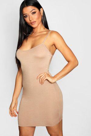 Boohoo Women Bodycon Dresses - Womens Basic Strappy Cami Bodycon Dress - - 4