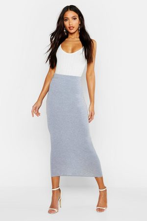 Boohoo Womens Basic Jersey Midaxi Skirt - - 2